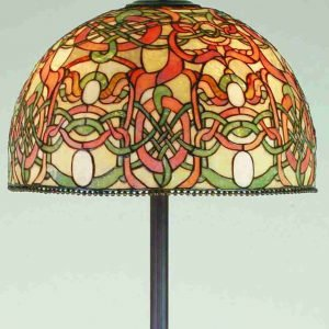 Scroll Jadestone Tiffany Stained Glass Floor Lamp