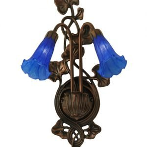 Sky Blue Lily Two Light Wall Sconce