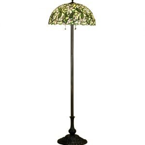 Sweet Pea Tiffany Stained Glass Floor Lamp