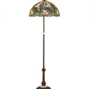 Trillium Violet Tiffany Stained Glass Floor Lamp