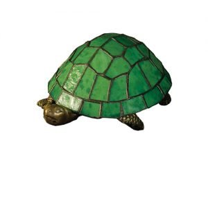 Turtle Green Tiffany Stained Glass Accent Lamp