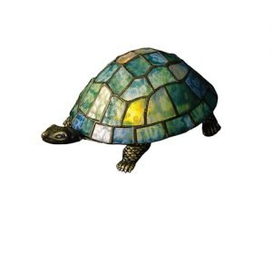Turtle Ocean Tiffany Stained Glass Accent Lamp