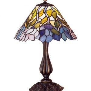 Wisteria Garden Tiffany Stained Glass Accent Lamp