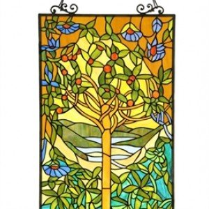 Beautiful Tree Tiffany Stained Glass Window Panel