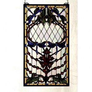 Dragonfly Allure Tiffany Stained Glass Window Panels