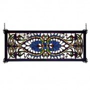 Antoinette Tiffany Stained Glass Transom Window Panel