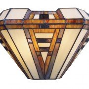 American Art Tiffany Stained Glass Wall Sconce