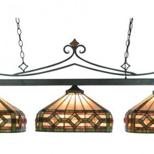 Autumn Tiffany Stained Glass Billiard Island Light