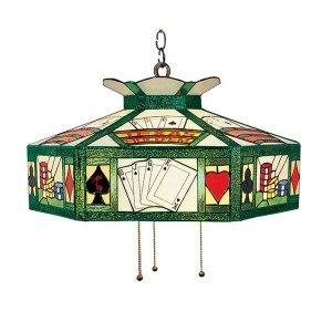 Texas Hold'Em Tiffany Stained Glass Chandelier Light