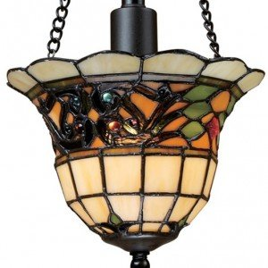 Tiffany Buckingham Stained Glass Semi Flush Light