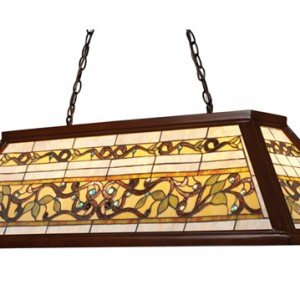 TriLeaf Tiffany Stained Glass Billiard Island Light