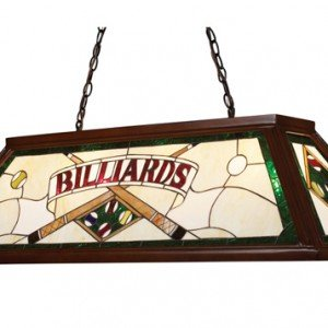 Mahogany Green Tiffany Stained Glass Billiard Light