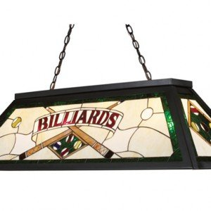 Metal Green Tiffany Stained Glass Billiard Light