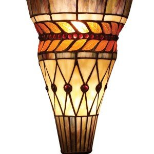 Glass Leaf Tiffany Stained Glass Wall Sconce