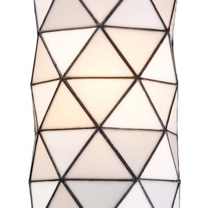 Tetra Tiffany Stained Glass White Wall Sconce