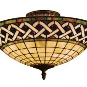 Angel Wing Tiffany Stained Glass Semi Flush