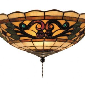 Tiffany Buckingham Stained Glass Ceiling Mount