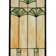 Green Ginkgo Tiffany Stained Glass Window Panel