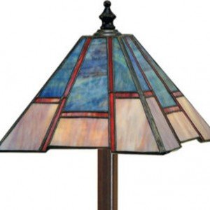 Uneven Mission Tiffany Stained Glass Accent Lamp
