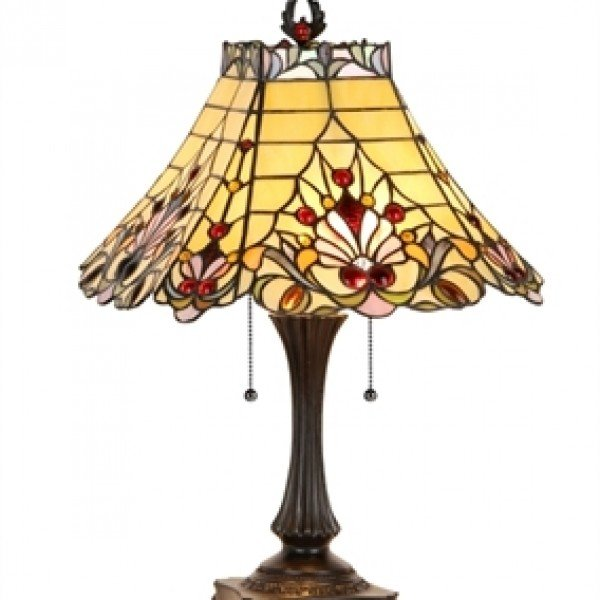 Tiffany Victorian Style Stained Glass Table Lamp
