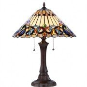 Elegant Victorian Tiffany Stained Glass Table Lamp