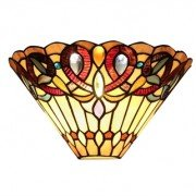 Victorian Jeweled Tiffany Stained Glass Wall Sconce