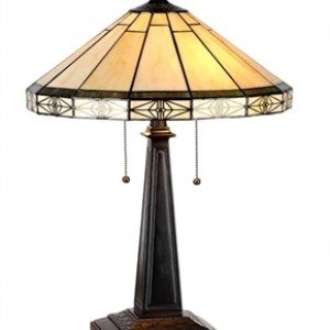Mission Style Tiffany Stained Glass Table Lamp