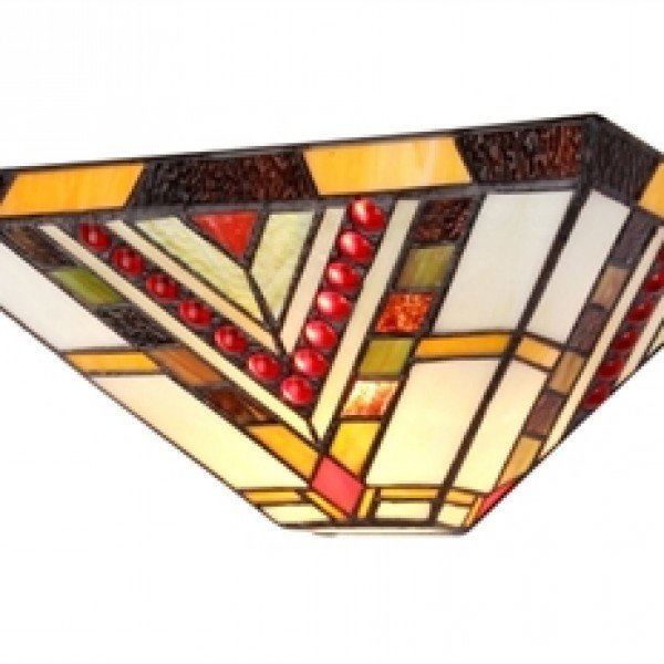 Modern Mission Style Tiffany Stained Glass Sconce