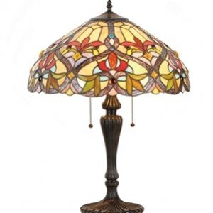 Tiffany Stained Glass Victorian Style Table Lamp