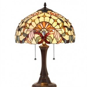 Modern Victorian Tiffany Stained Glass Table Lamp