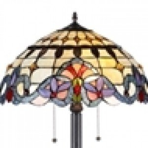 Country Victorian Tiffany Stained Glass Floor Lamp