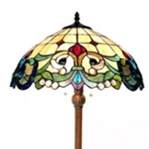 Victorian Style Tiffany Stained Glass Floor Lamp