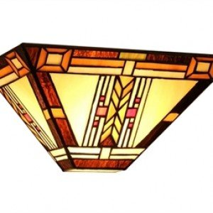 Indian Inspired Mission Tiffany Stained Glass Sconce