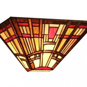 Modern Tiffany Stained Glass Mission Style Sconce