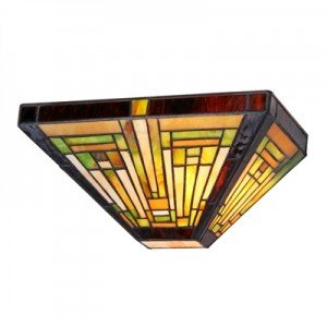 Classic Mission Style Tiffany Stained Glass Sconce