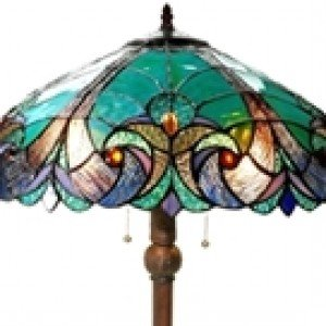 Tiffany Stained Glass Victorian Style Floor Lamp