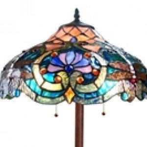 Elegant Victorian Tiffany Stained Glass Floor Lamp