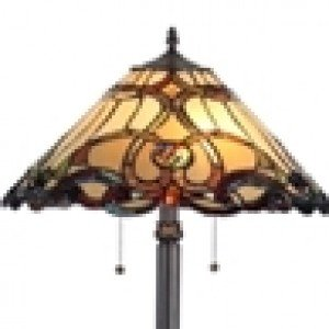 Elegant Tiffany Stained Glass Victorian Floor Lamp