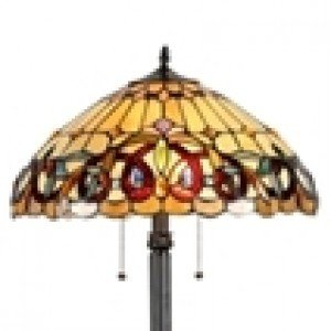 Lovely Victorian Tiffany Stained Glass Floor Lamp