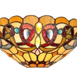 Victorian Style Tiffany Stained Glass Wall Sconce