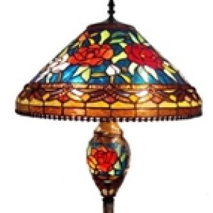 Tiffany Victorian Style Stained Glass Floor Lamp