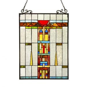 Doesburg Blocks Tiffany Stained Glass Window Panel