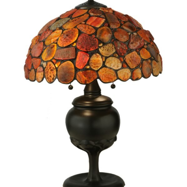 Agata Red Tiffany Stained Glass Table Lamp