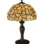Agata Yellow Tiffany Stained Glass Table Lamp