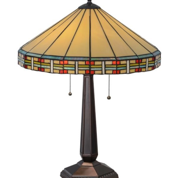 Arizona Southwestern Tiffany Stained Glass Table Lamp