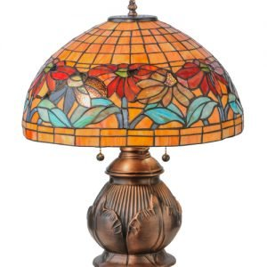 Black Eyed Susan Tiffany Stained Glass Lamp