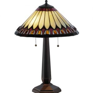 Tuscaloosa Jeweled Tiffany Stained Glass Table Lamp
