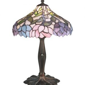 Wisteria Tiffany Stained Glass Accent Lamp