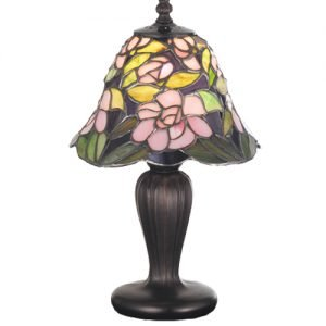 Begonia Garden Tiffany Stained Glass Mini Lamp