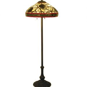 Pine Cone Tiffany Stained Glass Floor Lamp